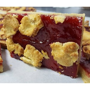 Raspberry Cobbler Bar