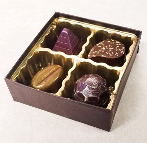 Handmade Chocolates Box of 4